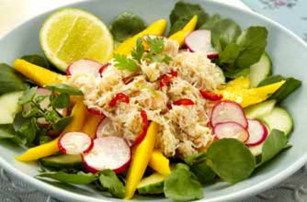 Crab and mango salad