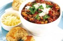 Chilli bean con carne with cheesy scones