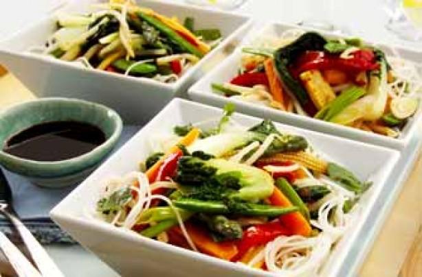 Seven-veg stir fry recipe