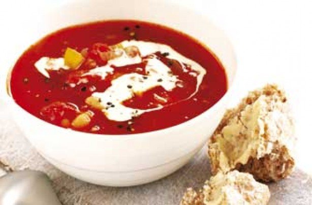 Spicy tomato and bean soup recipe