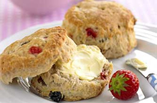 Strawberry and orange scones