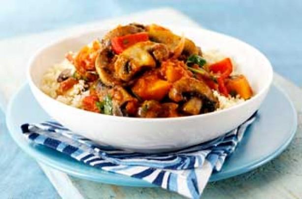 Squash and mushroom tagine