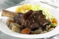 Lamb shanks in a red wine sauce