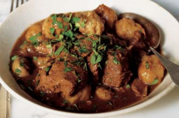John Torode's stew and dumplings