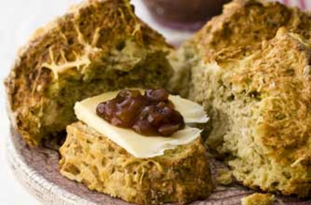 Cheddar and onion soda bread