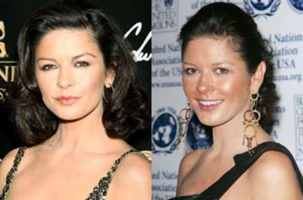 Catherine Zeta Jones looks a little worse for wear on a night out
