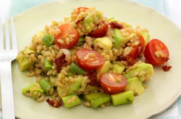 Avocado and brown rice salad