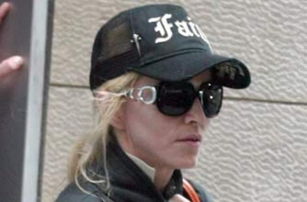 Madonna leaving the gym
