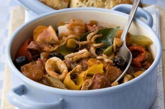 Calamari Stewed With Tomatoes Recipes — Dishmaps