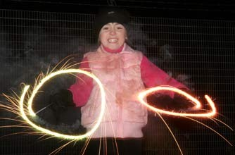 Child holding two sparklers_rex