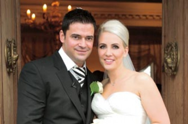 Claire Richards on her wedding day