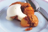 Gary Rhodes' baked Amaretti peaches