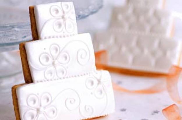 White wedding cookies