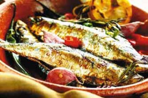 Soy-marinated sardines