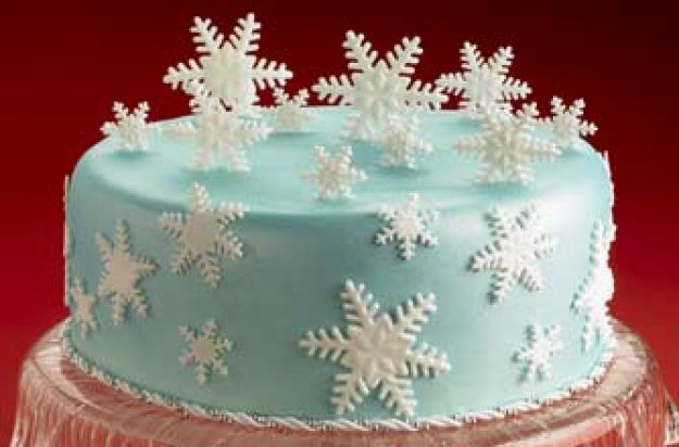 Snow time Christmas cake
