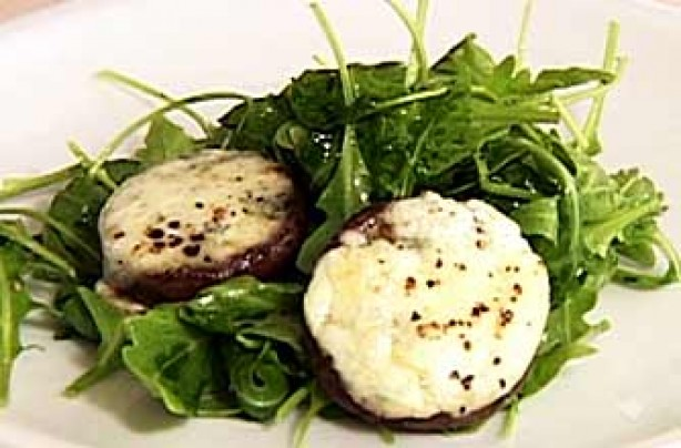 Gino D'Acampo's dolcelatte stuffed mushrooms