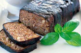 Mary Berry's aubergine five-nut roast