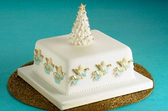 Angel Christmas cake Christmas cake recipe - goodtoknow