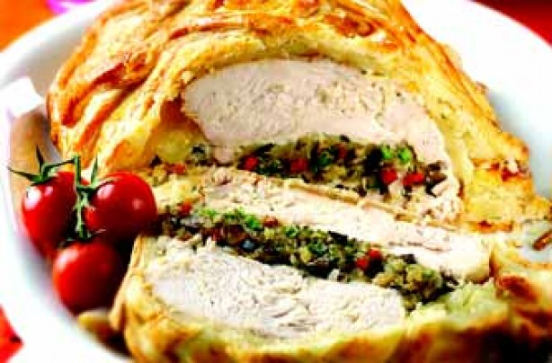 Turkey and wild mushroom en croute recipe