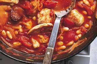 Gary Rhodes' chicken and chorizo stew