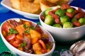 Sprouts with Chorizo, root vegetable medley, roast potatoes_WW