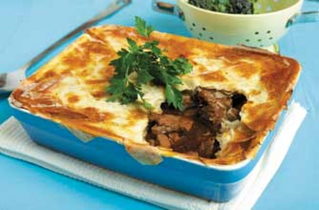 Rosemary Conley's beef, steak and potato pie