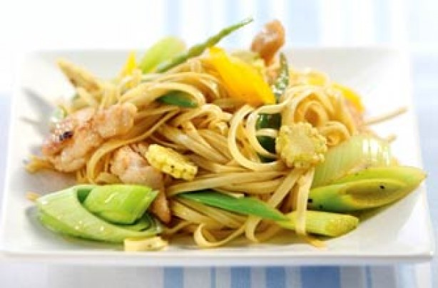 Honey lemon and ginger stir fry