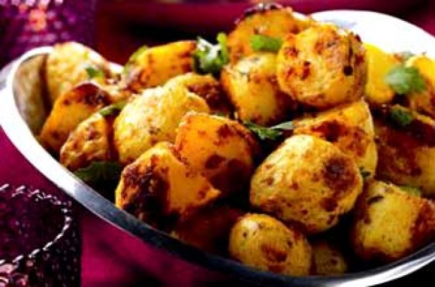 Roast spiced potatoes