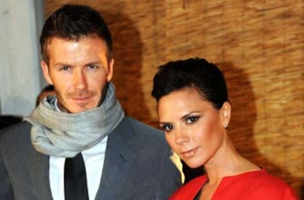 David and Victoria Beckham in Milan