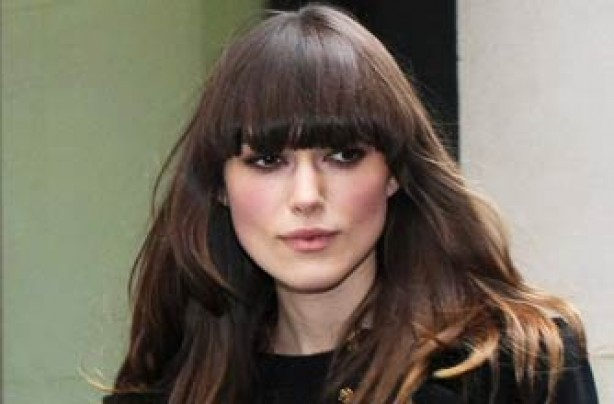 Keira Knightley with new fringe