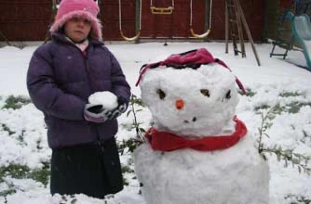 Kayleigh's snowman Sid, Lincs