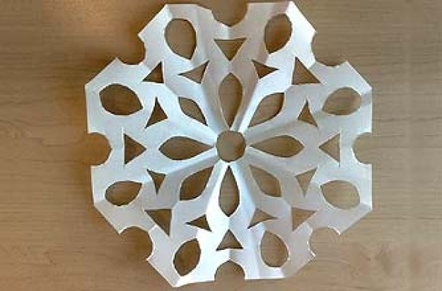 A paper snowflake