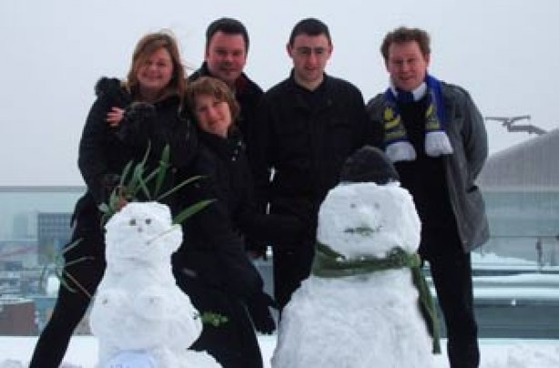 Your snow pictures, At work, Snowman and snowmaiden