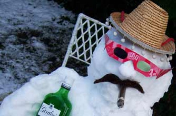 Vic O Connell's snowman Larry