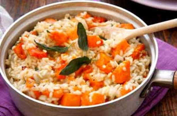 Butternut squash and sage risotto