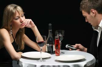 Woman bored on date_Istock