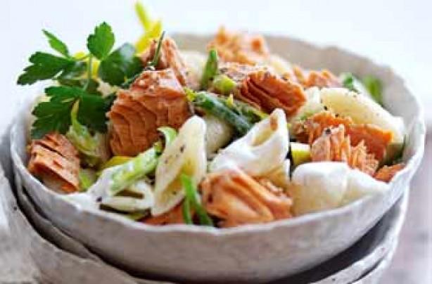 Salmon pasta with creme friache_Alaska Seafood