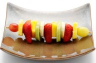 Fruit kebabs with chocolate sauce_Fairy