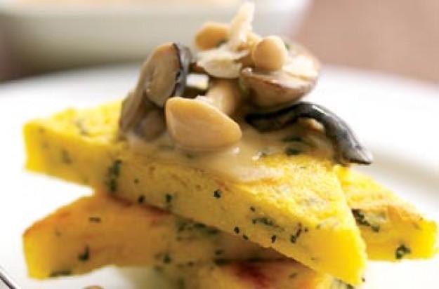 Polenta_Grana padano parmesan
