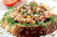Peppery tuna open granary sandwich