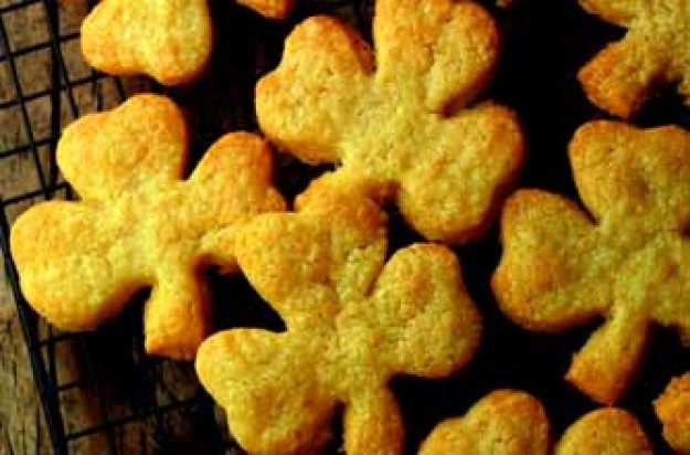 Cheddar cheese shamrock biscuits