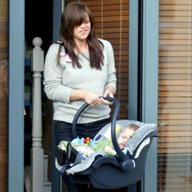 Jade Goody and baby Bobby Jack, January 2004