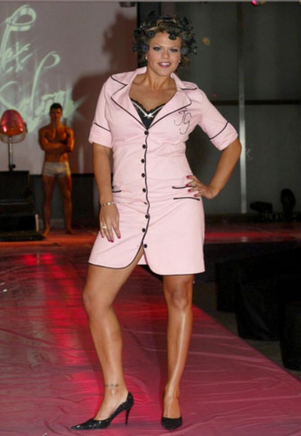 Jade Goody launches her beauty salon Ugly's, September 2005