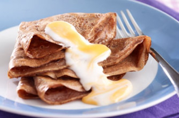 Cadbury Creme Egg 'goo' over Easter pancakes