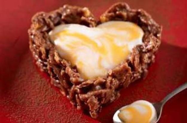 Cadbury's creme egg hearts