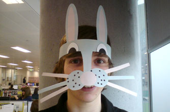 Quick and easy Easter bunny mask