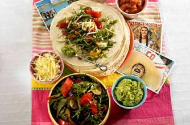 Mexican veggie fajitas