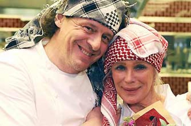 Hells kitchen 2009 winner Linda Evans and Marco Pierre White