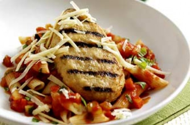 Chicken grills with penne pasta recipe