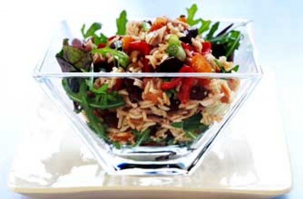 Tuna and brown rice salad